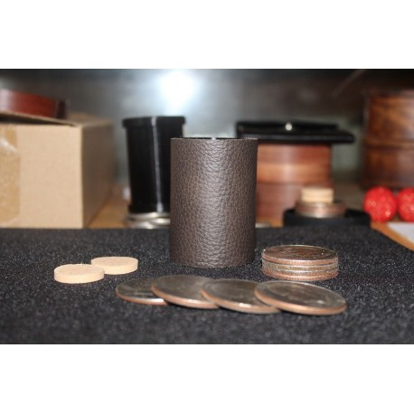 Leather/Delin Coin Cylinder