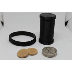 Delrin Coin Cylinder Set 1/2 Dollar Size