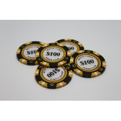 Monte Carlo Premium 14g Poker Chips, $100 Clay Composite