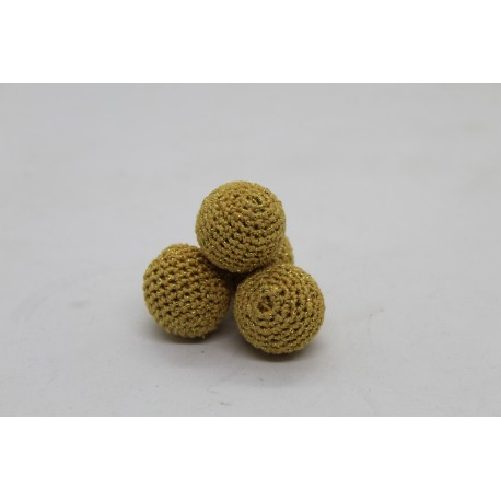 "1"" inch Crochet Set of (4) Glitter Gold"