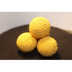 1 1/8th Yellow Lemon Drop Manipulation Balls