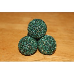 Emerald Green and Gold Manipulation Balls 1 1/8""