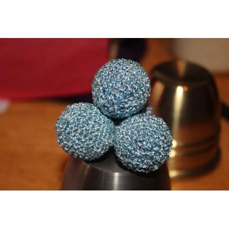 Aqua Blue Sparkle Manipulation Balls