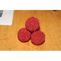 Cranberry and Gold Manipulation Balls 1 1/8""