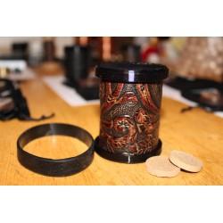 Cowhide/Delrin Embossed Cylinder