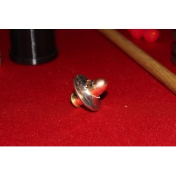 45 Caliber Bullet Through Kennedy Half Dollar