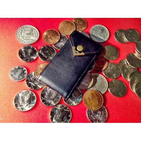 Leather Coin Wallet 6 Coins Genuine Leather