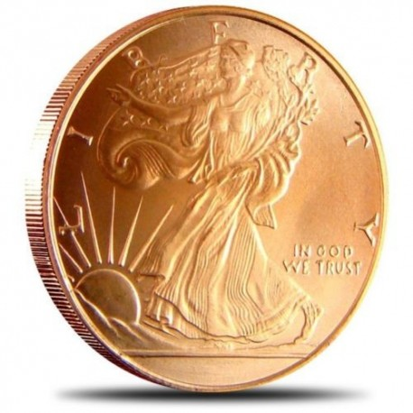 Jumbo .999 Fine Copper Walking Liberty Coin